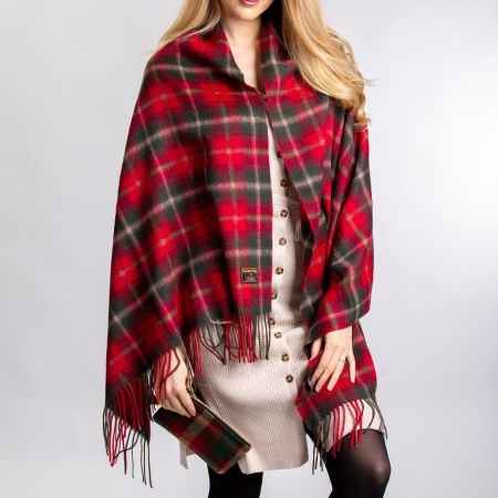 Lambswool Stole Dark Maple Tartan Lambswool Stole