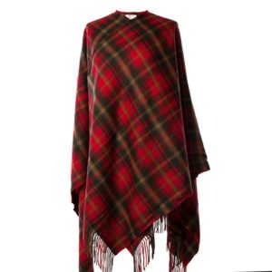Dark Maple Lambswool Cape
