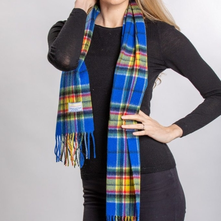 lambswool Scarves Colours of Hope Tartan Lambswool Scarf