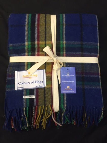 Blankets Highland Collection – Colours of Hope Tartan Deluxe Merino Wool Blanket