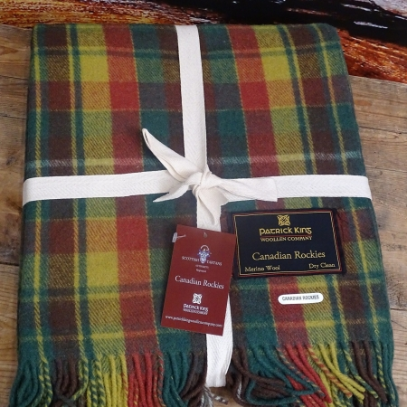 Blankets Highland Collection – Canadian Rockies Tartan Deluxe Merino Wool Blanket
