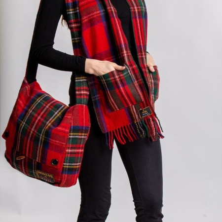Pocket Scarf Royal Stewart Tartan Merino Wool Pocket Scarf