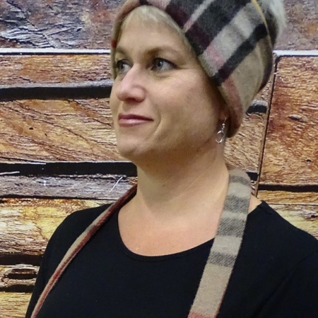 Headband Wool Thompson Camel Tartan Merino Wool Headband