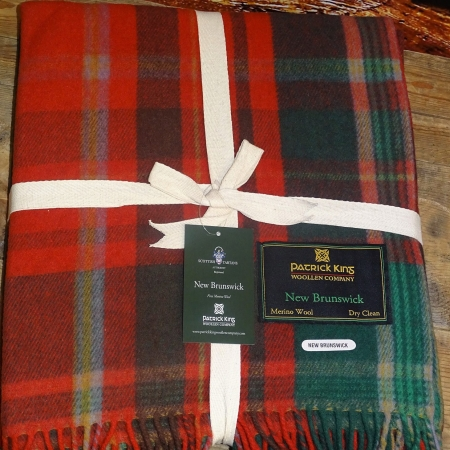 Blankets Highland Collection – New Brunswick Tartan Deluxe Merino Wool Blanket