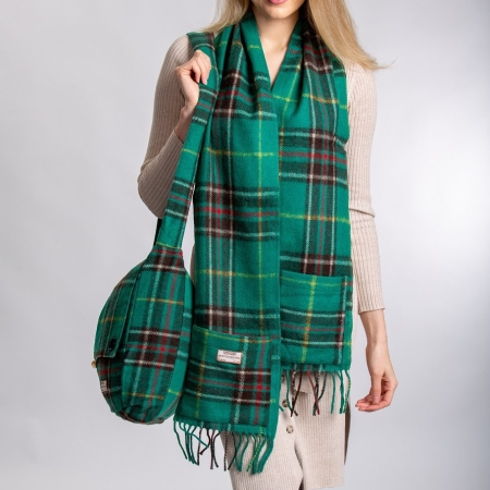 Pocket Scarf Newfoundland Tartan Merino Wool Pocket Scarf