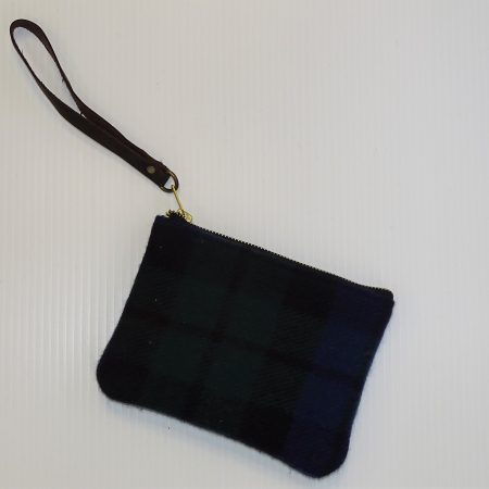 Hannah Black Watch Clutch Purse