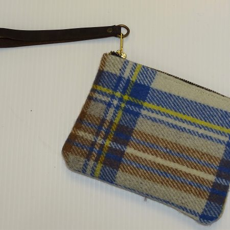 Hannah Stewart Muted Blue Clutch Purse