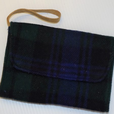 Laurel Deluxe Clutch Black Watch Tartan Deluxe Wool Laurel Clutch Purse
