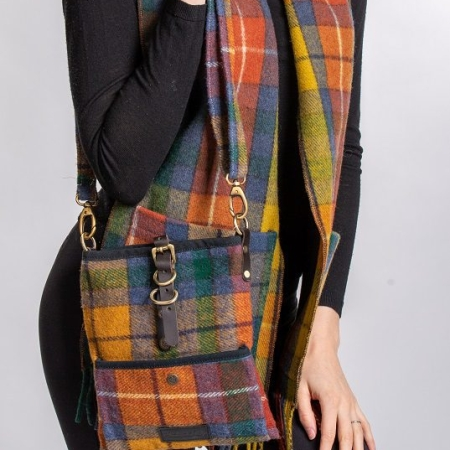 Islay Wool Tartan Bag Antique Buchanan Tartan Deluxe Wool Islay Cross Body Bag