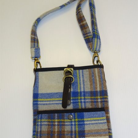 Islay Stewart Muted Blue wool bag