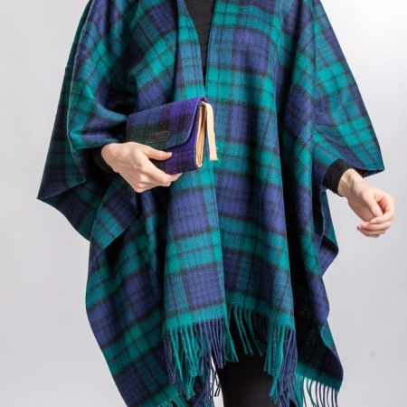 Capes Black Watch Tartan Lambswool Cape