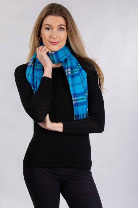 lambswool Scarves One World Together Tartan Lambswool Scarf