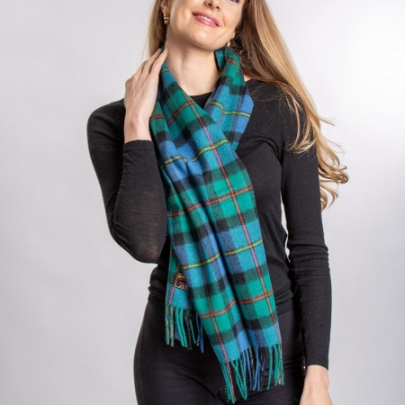 lambswool Scarves MacLeod of Harris Tartan Lambswool Scarf
